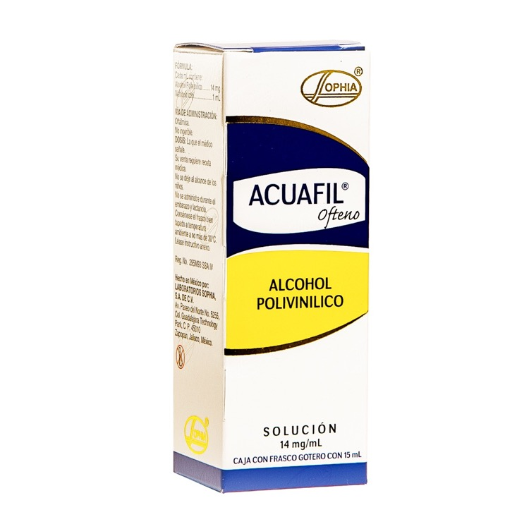 Acuafil Oft 14 Mg/Ml 1 Frasco Gotas 15 Ml