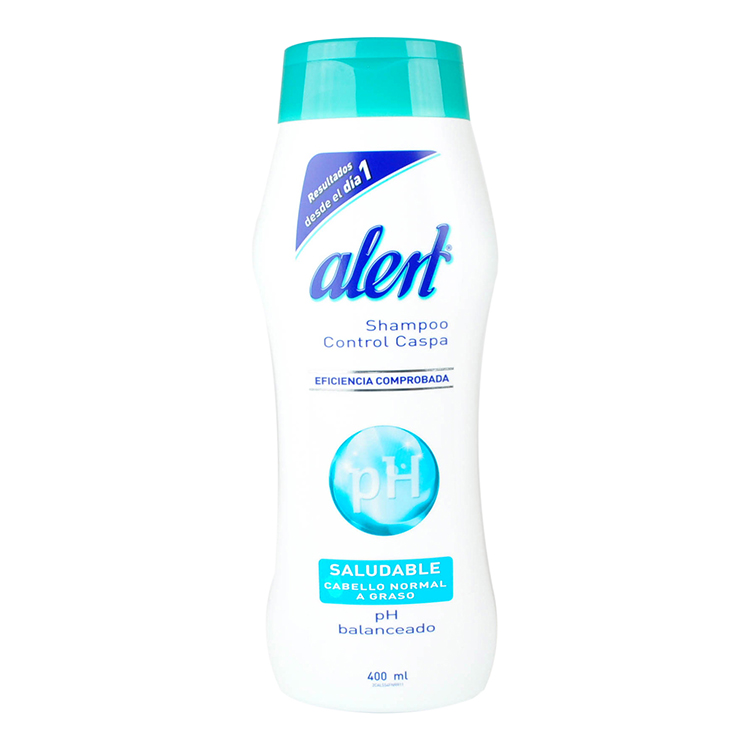 Alert Uso Diario Para Cabello Normal-Graso 1 Frasco Shampoo 400 Ml