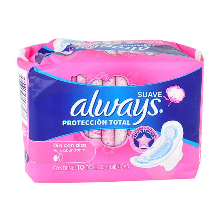 Always Nocturna Pinkcess Con Alas Toalla Sanitaria 1 Bolsa 10 Piezas