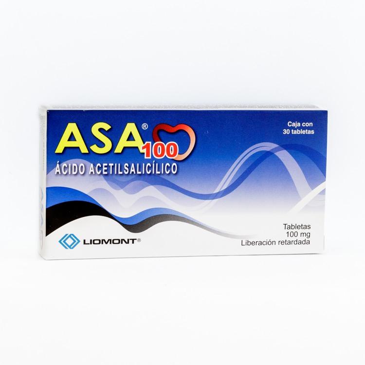 Asa 100 Mg Caja 30 Tabletas