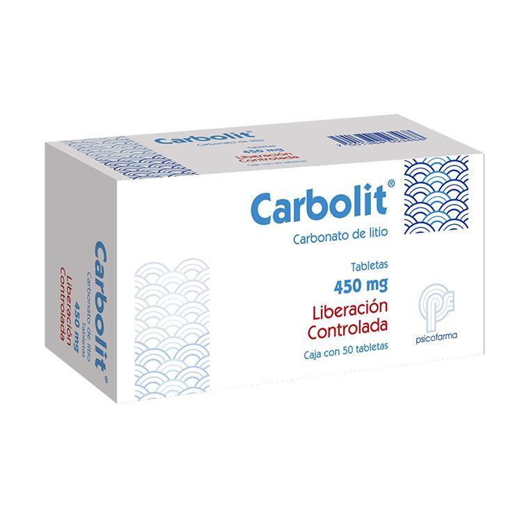 CARBOLIT LC 450MG TAB C50