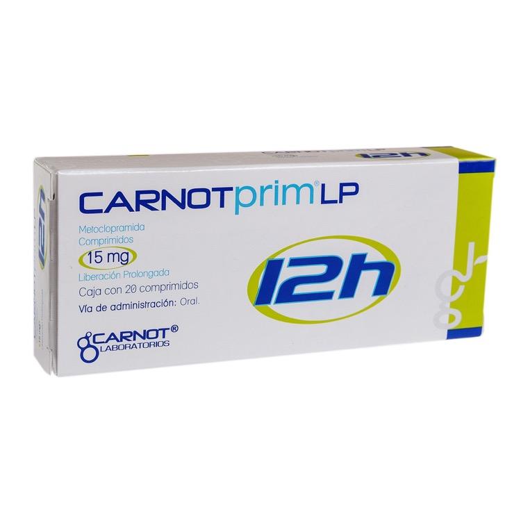 CARNOTPRIM 12H 15MG CPR C20