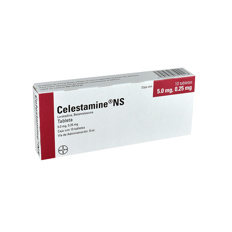 CELESTAMINE NS 5/0 25MG TABC10