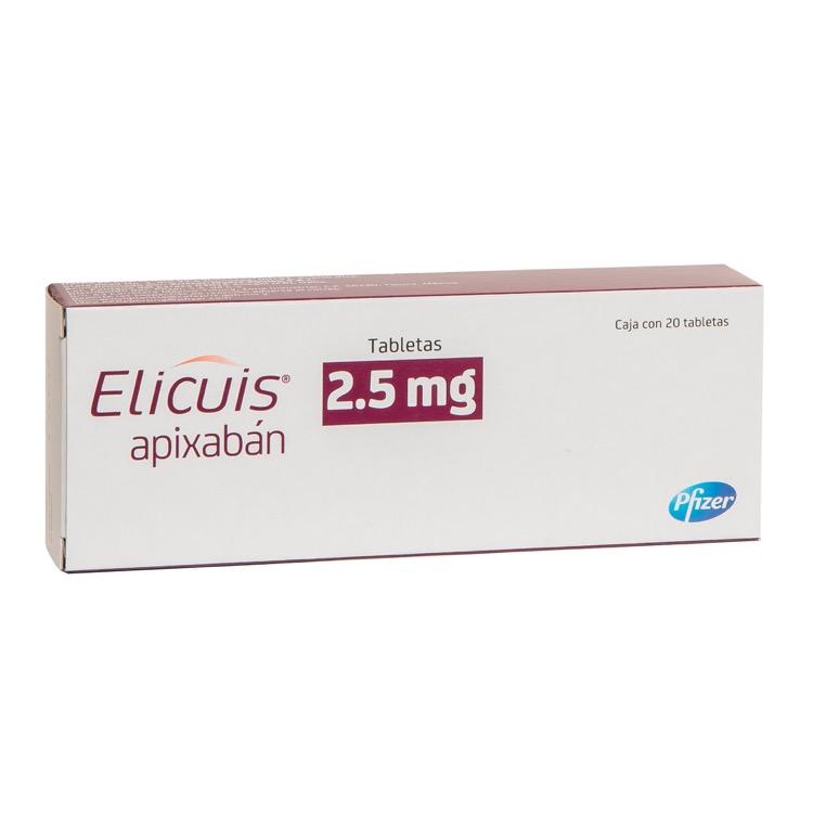 Elicuis 2.5 Mg Caja 20 Tabletas
