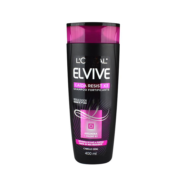 Elvive Caida Resist X3 Cabello Debil 1 Botella Shampoo 400 Ml