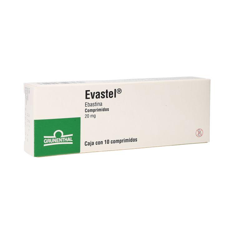 Evastel 20 Mg Caja 10 Comprimidos
