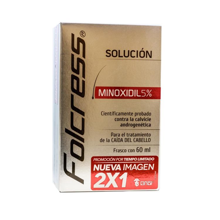 FOLCRESS Minoxidil 5% tratamiento Capilar SOL 60ML 2X1