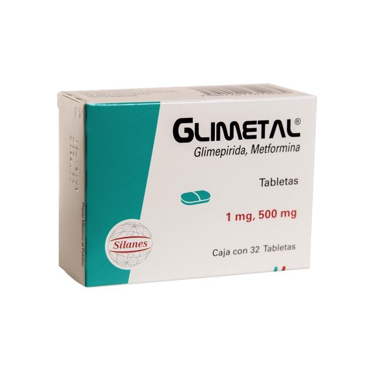 GLIMETAL 1MG 500MG TAB C32