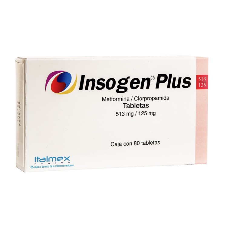 INSOGEN P NF 513/125MG TAB C80