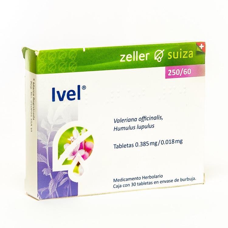 Ivel 250/60 Mg Caja 30 Tabletas