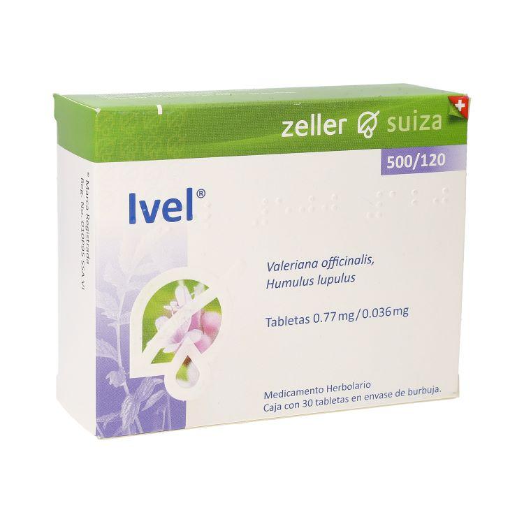 Ivel 500/120 Mg Caja 30 Tabletas