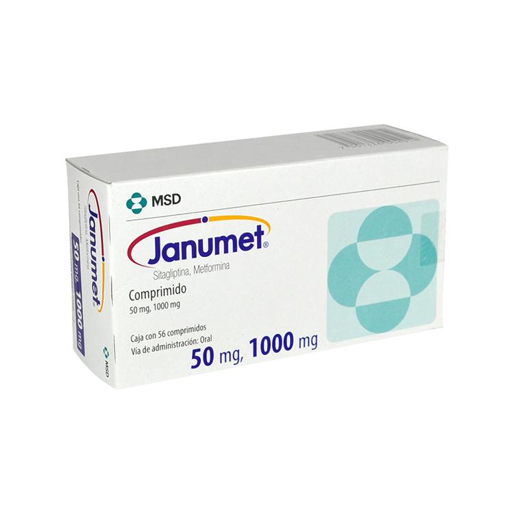 Janumet 50/1000 Mg Caja 56 Comprimidos