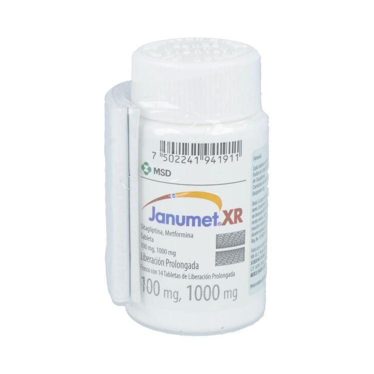Janumet Xr 100/1000 Mg Caja 14 Tabletas