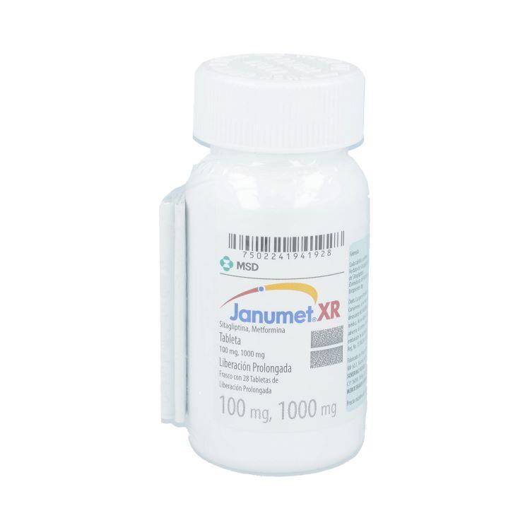 Janumet Xr 100/1000 Mg Caja 28 Tabletas