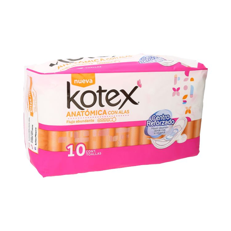 KOTEX NAT FLEX ANAT C/ALAS C10