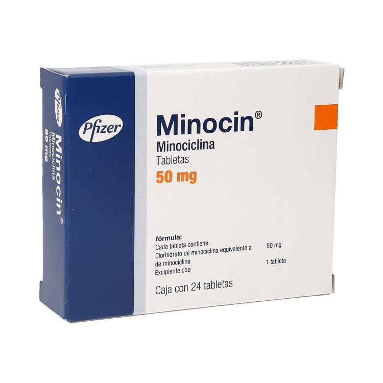 Minocin 50 Mg Caja 24 Grageas