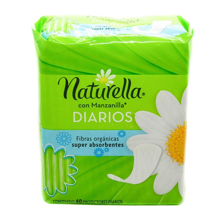 Naturella Natural Manzanilla Pantyprotector 1 Bolsa 40 Piezas