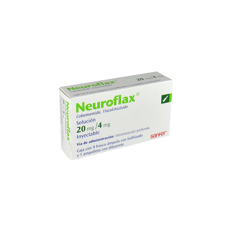 NEUROFLAX 20MG SOL INY 4ML C1