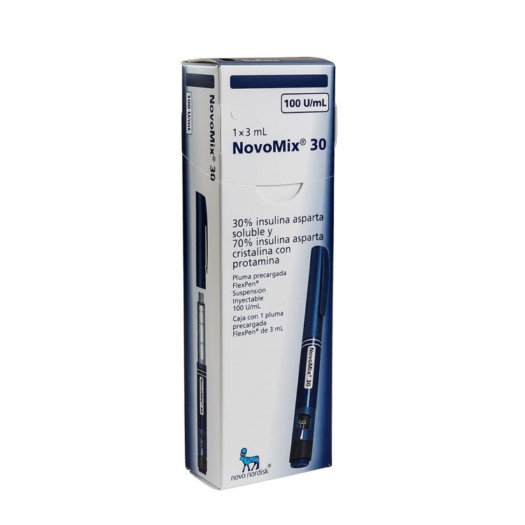Novomix 30 Flexpen 100 Ui 1 Caja 1 Vial 3 Ml