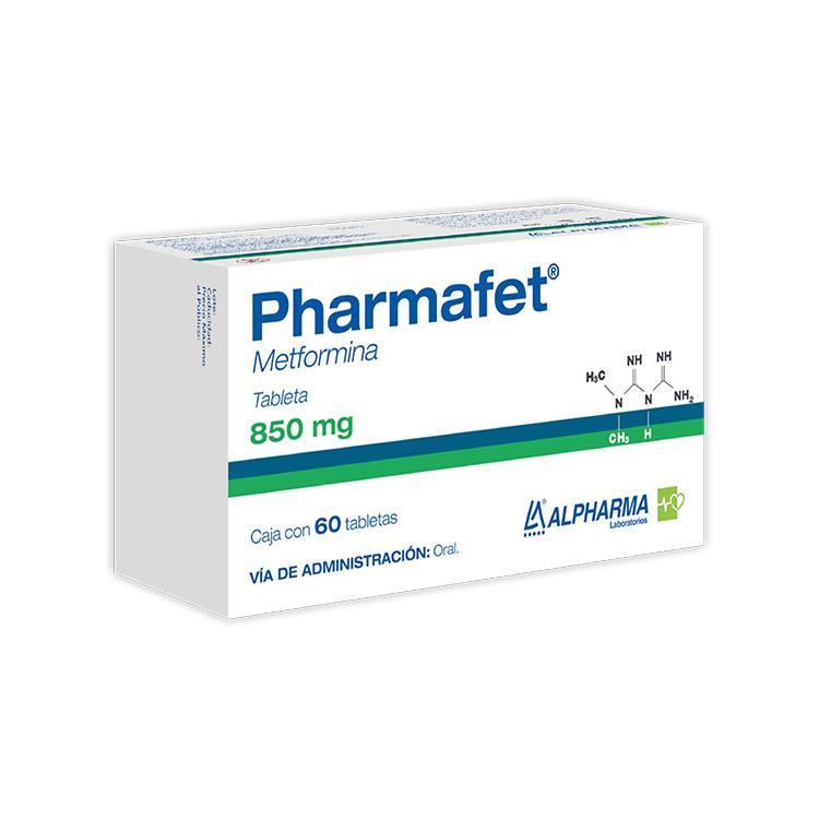 Pharmafet 850 Mg 1 Caja 60 Tabletas