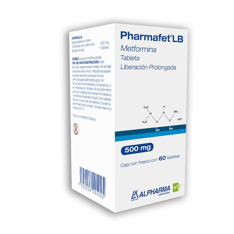 Pharmafet Lb 500 Mg 1 Caja 60 Tabletas