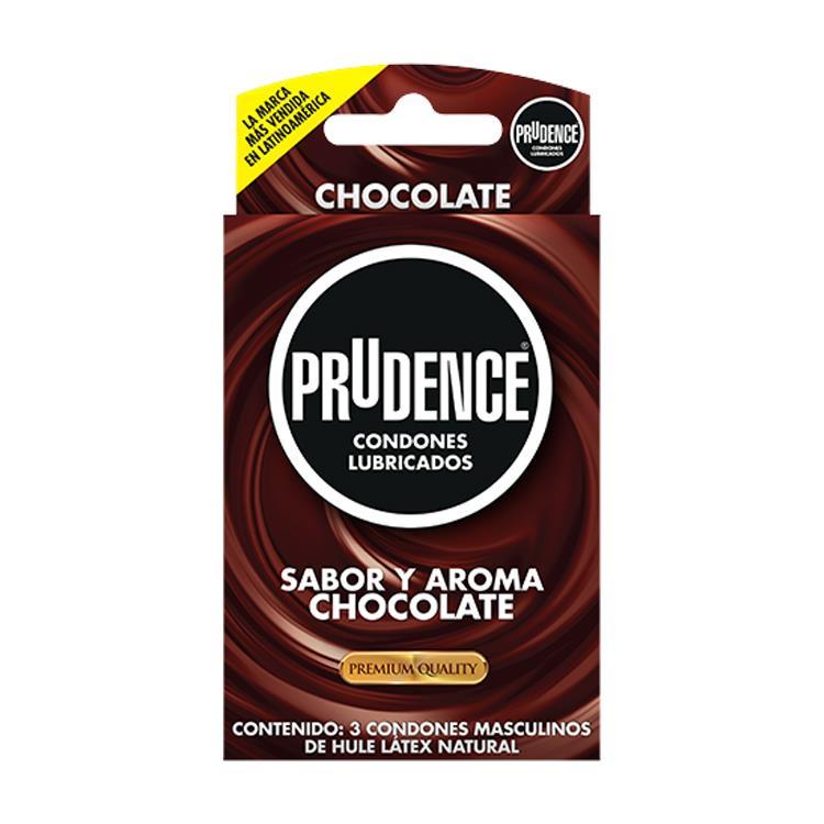 PRESERVATIVO PRUDENCE SABOR CHOCOLATE CON 3 CONDONES