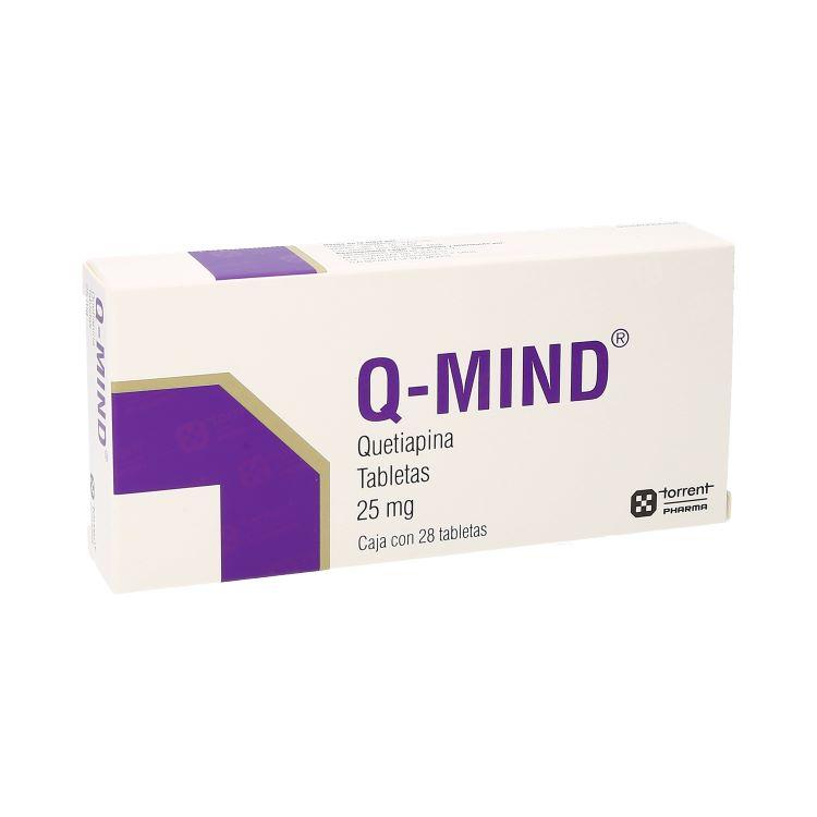 Q-Mind 25 Mg Caja 28 Tabletas
