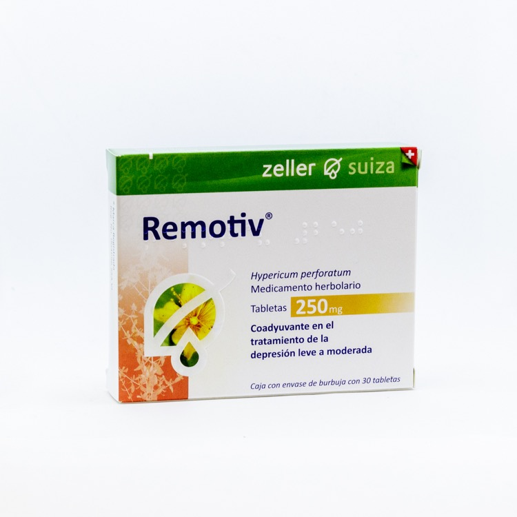 Remotiv 250 Mg Caja 30 Tabletas