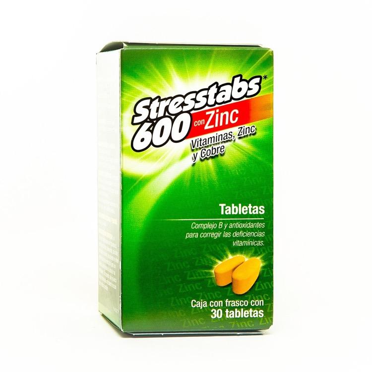 Stresstabs 600 Zinc Caja 30 Grageas