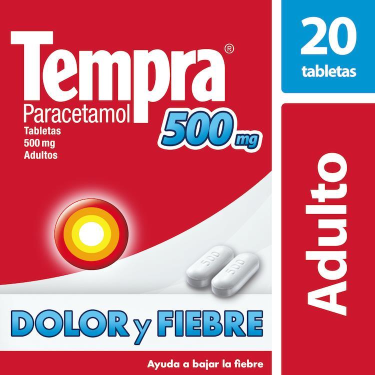 Tempra Caplets 500 Mg Caja 20 Tabletas