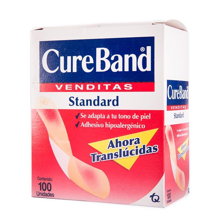 Cure Band Venditas Adhesivas 1 Caja 100 Piezas