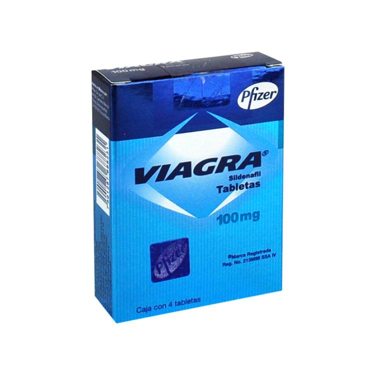 Viagra 100 Mg Caja 4 Tabletas