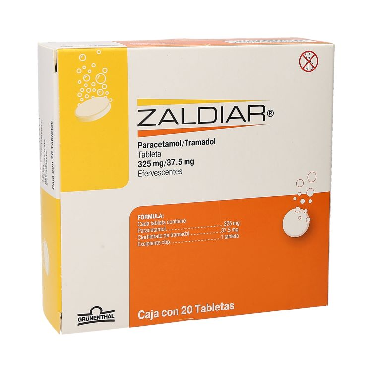 ZALDIAR 37 5/325MG TAB EFE C20