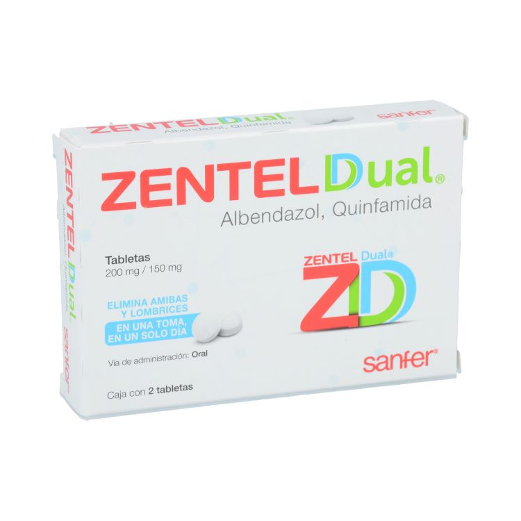 ZENTEL DUAL 200/150MG TAB C2