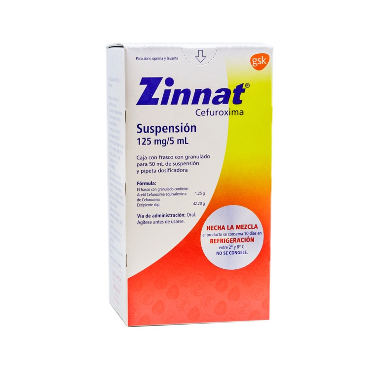 ZINNAT 125MG SUSP 50ML