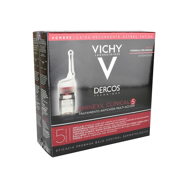 Vichy Dercos Aminexil Hombre Renov 1 Caja 12 Ampolletas 6 Ml