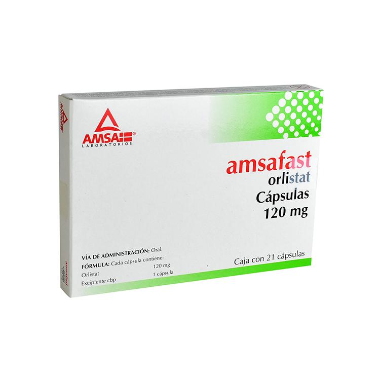 Amsafast Orlistat 120 Mg Caja 21 Capsulas