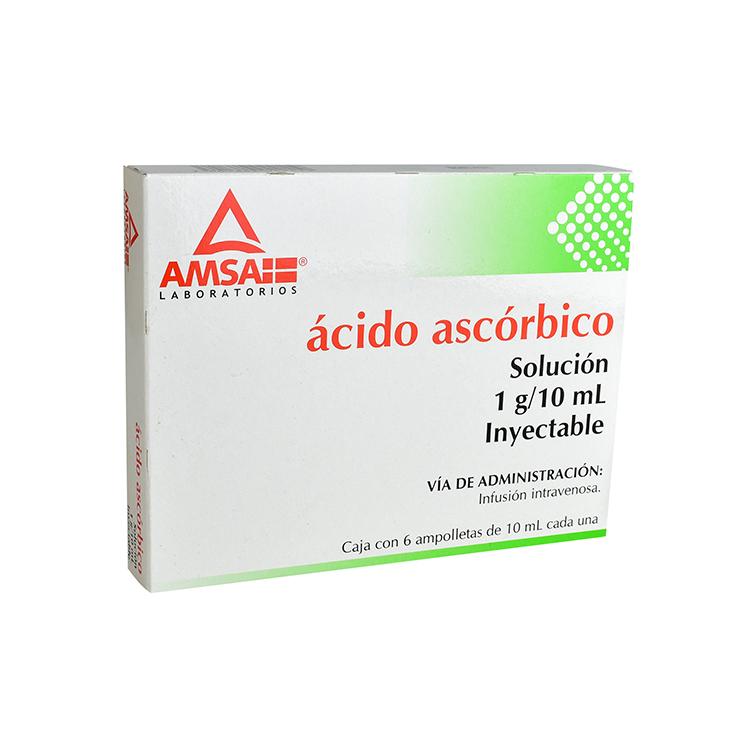 ACIDO ASCORBICO 10ML AMP C6
