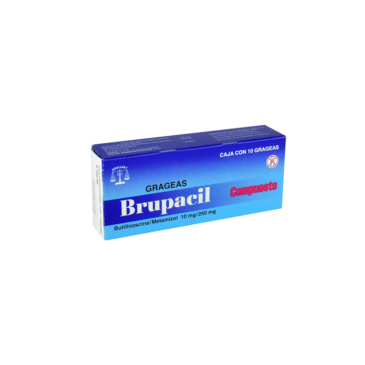BRUPACIL 10/250MG GRAG C10