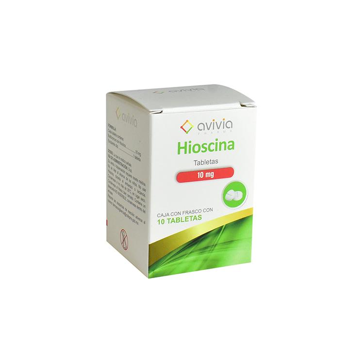 Hioscina 10 Mg Caja 10 Tabletas